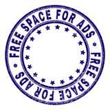 ESPAÇO LIVRE Textured riscado PARA o selo do selo do círculo do ADS ilustração royalty free