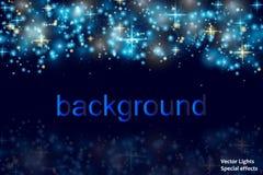 Espaço mágico Fundo abstrato do universo Fundo azul e estrelas de brilho Ilustração do vetor ilustração royalty free