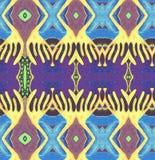 Espaço original do azul do amarelo do teste padrão Fotos de Stock