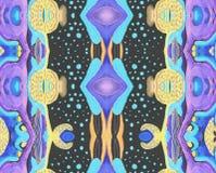 Espaço original do lilás do preto azul do teste padrão Imagem de Stock