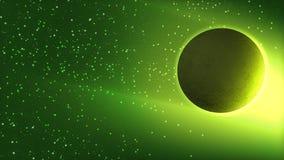 Espaço - planeta e estrelas Fotos de Stock Royalty Free