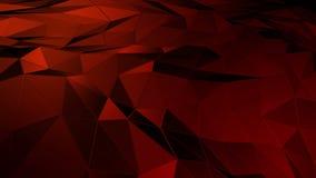 Espaço poligonal abstrato baixo poli com superfície de conexão vídeos de arquivo
