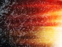 Espaço profundo dramático horizontal com backg da ilustração da explosão do sol ilustração stock