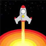 Espaço Rocket Start Up e lançamento Imagem de Stock