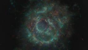 Espaço surreal psicadélico, rendição 3D do espaço profundo vídeos de arquivo