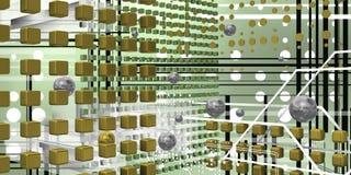 Espaço tecnologico fresco Fotografia de Stock