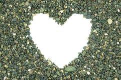 Espaço vazio branco heart-shaped fotos de stock royalty free
