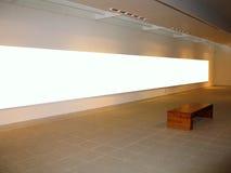 Espaço vazio da galeria foto de stock