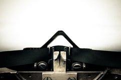 Espaço vazio da mensagem da máquina de escrever Fotos de Stock