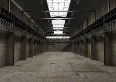 Espaço vazio industrial, design de interiores velho do vintage ilustração royalty free