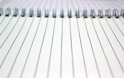 Espaço vazio no caderno Foto de Stock Royalty Free