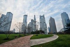 Espaço verde central de Lujiazui, Shanghai foto de stock royalty free