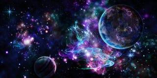 Espaço violeta ilustração do vetor