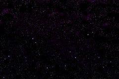 espaço Violeta-preto do cosmos com estrelas ilustração stock