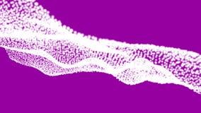 Espaço virtual, fundo do sumário da onda ilustração stock
