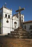 España, Asturias, Cornellana, cruz de piedra Foto de archivo libre de regalías