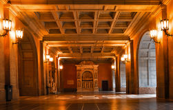 españa cataluña Interior de la iglesia de Montserrat La abadía es Imágenes de archivo libres de regalías