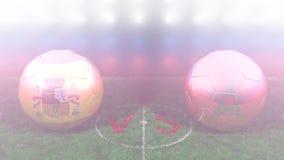 España contra Marruecos, mundial 2018 de la FIFA Vídeo original 3D