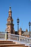España cuadrada en Sevilla, Andaluc3ia, España Imagen de archivo libre de regalías