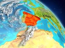 España de la órbita stock de ilustración