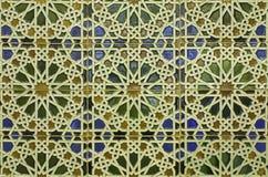 España - embaldosado de la pared en estilo mudéjar Imagen de archivo libre de regalías