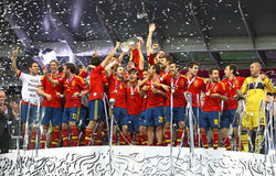 España - el ganador del EURO 2012 de la UEFA Foto de archivo libre de regalías