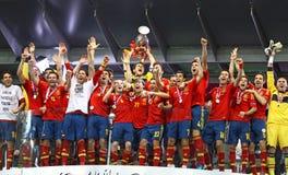 España - el ganador del EURO 2012 de la UEFA Fotos de archivo libres de regalías