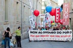 España en protesta imagen de archivo libre de regalías
