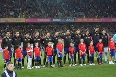 España - equipo de fútbol nacional foto de archivo libre de regalías
