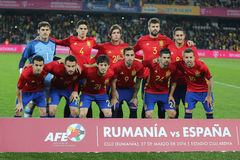 España - equipo de fútbol nacional Imágenes de archivo libres de regalías