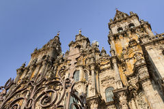 España, Galicia, Santiago de Compostela, catedral Imagen de archivo libre de regalías