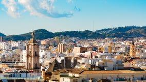 españa Málaga Opinión sobre el centro de ciudad Fotografía de archivo libre de regalías