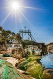 España Majorca, pueblo del puerto pesquero de Cala Figuera imagen de archivo
