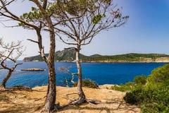 España Majorca, señal natural de la isla del Sa Dragonera foto de archivo libre de regalías