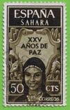 ESPAÑOL SÁHARA del sello Imagen de archivo