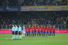 España - equipo de fútbol nacional Fotos de archivo libres de regalías