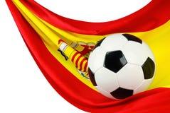 España quiere el balompié Foto de archivo libre de regalías