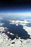 Espace aérien sibérien Image libre de droits