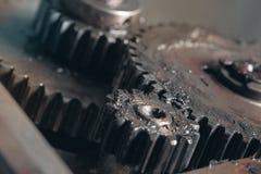 Espace d'exécution des roues dentées en corrélation Photo stock