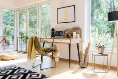 Espace de travail à la maison Photos libres de droits