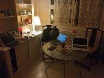 Espace de travail à la maison créatif Image stock