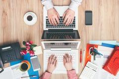 Espace de travail adapté aux besoins du client Image stock