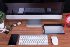 Espace de travail avec l'écran vide Images libres de droits