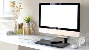 Espace de travail de bureau de concepteur de créatif Image libre de droits