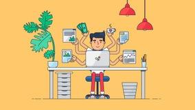 Espace de travail créatif de technologie Images libres de droits