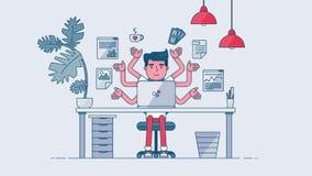 Espace de travail créatif de technologie Photos libres de droits