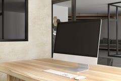 Espace de travail créatif de lieu de travail avec l'ordinateur Images libres de droits