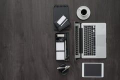 Espace de travail d'entreprise constituée en société Photographie stock libre de droits