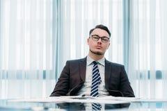 Espace de travail d'entreprise de mode de vie d'homme d'affaires Image stock