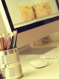 Espace de travail d'un créatif Photos libres de droits